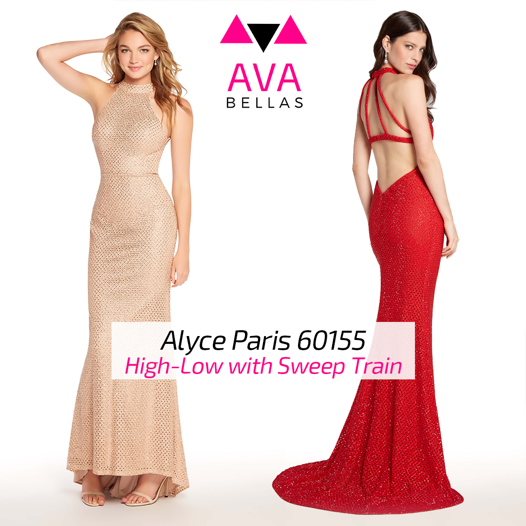 Alyce Paris 60155 with High Low Sweep Train